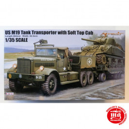 US M19 TANK TRANSPORTER WITH SOFT TOP CAB MERIT 63502