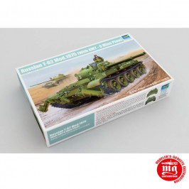 RUSSIAN T-62 MODEL 1975 WITH KMT-6 MINE PLOW TRUMPETER 01550