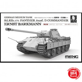 GERMAN MEDIUM TANK Sd.Kfz.171 PANTHER Ausf. D COMMANDER ERNST BARKMANN LIMITED EDITION MENG ES-003