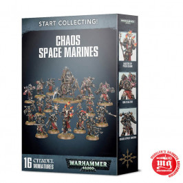 START COLLECTING CHAOS SPACE MARINES GAMES WORKSHOP WARHAMMER 40000 70-40