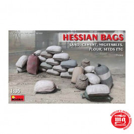 HESSIAN BAGS SAND, CEMENT, VEGETABLES, FLOUR, SEEDS, ETC MINIART 35586
