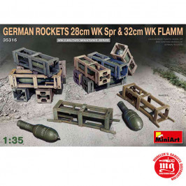 GERMAN ROCKETS 28cm WK Spr AND 32cm WK FLAMM MINIART 35316