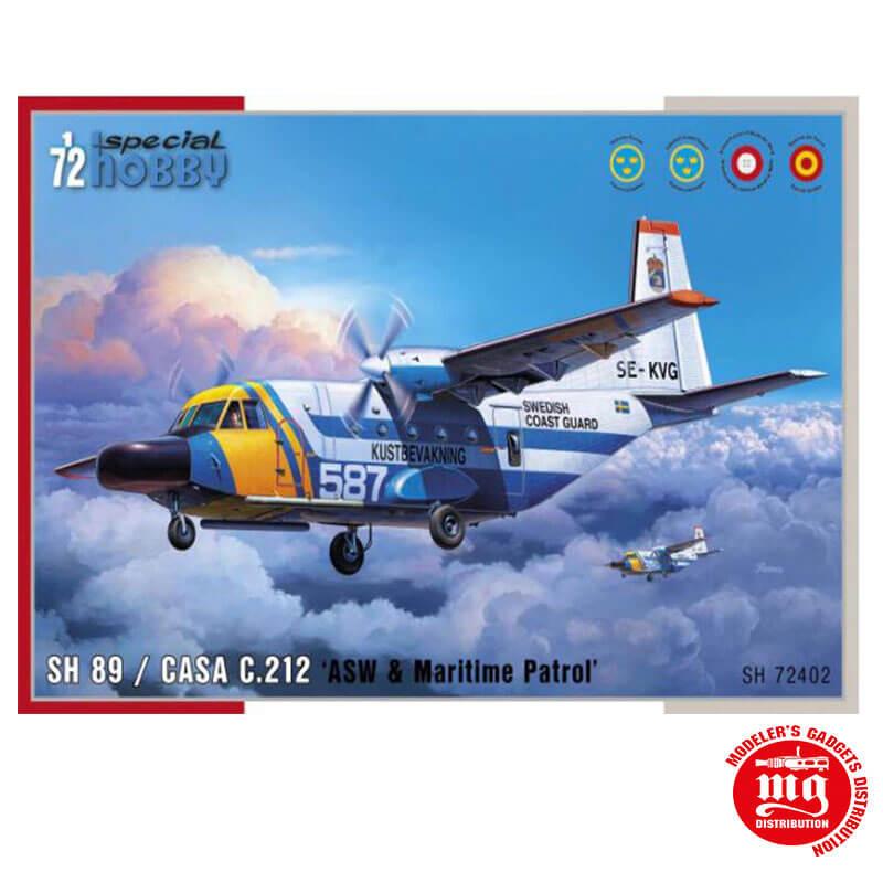 SH 89 CASA C.212 ASW AND MARITIME PATROL SPECIAL HOBBY SH 72402