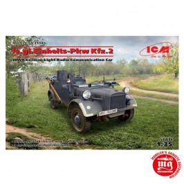 Ie.gl.EINHEITS-Pkw Kfz.2 WWII GERMAN LIGHT RADIO COMMUNICATION CAR ICM 35583