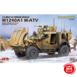 U.S. MRAP ALL TERRAIN VEHICLE M1240A1 M-ATV WITH FULL INTERIOR RFM 5032