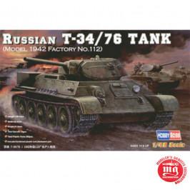 RUSSIAN T-34/76 TANK MODEL 1942 FACTORY NUMBER 112 HOBBY BOSS 84806 ESCALA 1:48