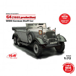 G4 1935 PRODUCTION WWII GERMAN STAFF CAR ICM 72471