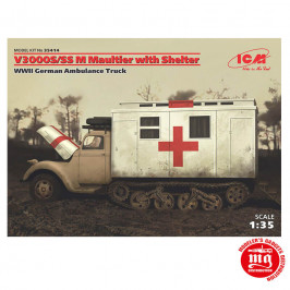 V3000S/SS M MAULTIER WITH SHELTER WWII GERMAN AMBULANCE TRUCK ICM 35414