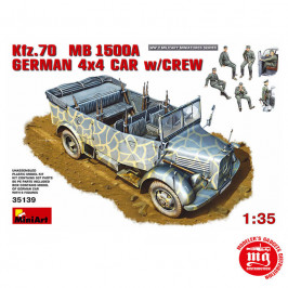 Kfz.70 MB 1500A GERMAN 4 X 4 CAR WITH CREW MINIART 35139