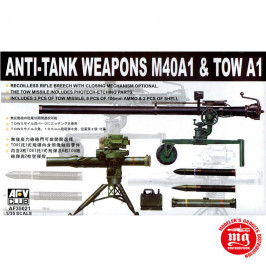 ANTI TANK WEAPONS M40A1 AND TOW A1 AFV CLUB AF35021