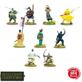 WARLORDS OF EREHWON SAMURAI HEROES WARLORD GAMES 692415001