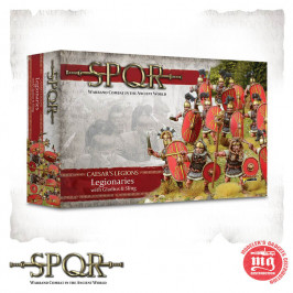 SPQR CAESAR'S LEGIONS LEGIONARIES WITH GLADIUS AND SLINGS WARLORD GAMES 152011005