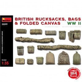 BRITISH RUCKSACKS BAGS AND FOLDED CANVAS WWII MINIART 35599