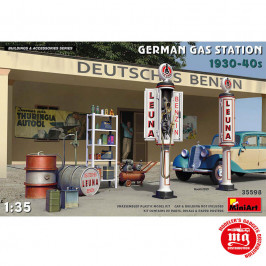 GERMAN GAS STATION 1930-1940 MINIART 35598