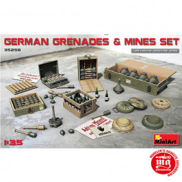 GERMAN GRENADES AND MINES SET MINIART 35258