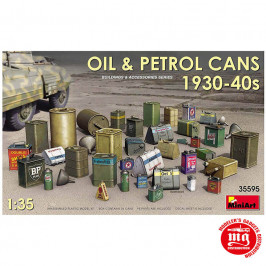OIL AND PETROL CANS 1930-1940 MINIART 35595