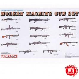 MODERN MACHINE GUN SET QUARTERMASTER SERIES DRAGON 3806
