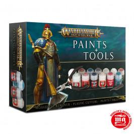 SET DE PINTURAS Y HERRAMIENTAS DE WARHAMMER AGE OF SIGMAR GAMES WORKSHOP 80-17-60