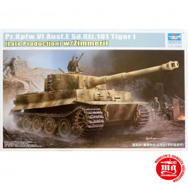 Pz.Kpfw.VI Ausf.E Sd.Kfz.181 TIGER I LATE PRODUCTION WITH ZIMMERIT TRUMPETER 09540