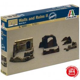 WALLS AND RUINS II WORLD WAR II ITALERI 6090