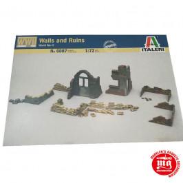 WALLS AND RUINS WORLD WAR II ITALERI 6087