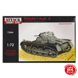 PzKpfw I AUSF A WWII GERMAN WEHRMACHT LIGHT TANK LATE PRODUCTION ATTACK HOBBY KITS 72866