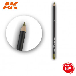 WEATHERING PENCIL FOR MODELLING OLIVE GREEN AK10006