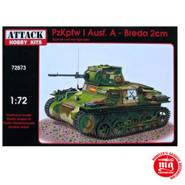 PzKpfw I Ausf A BREDA 2cm SPANISH CIVIL WAR LIGHT TANK ATTACK HOBBY KITS 72873