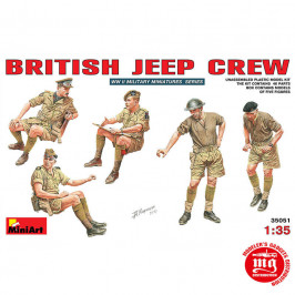 BRITISH JEEP CREW MINIART 35051
