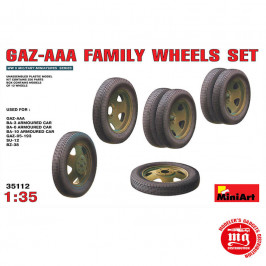 GAZ-AAA FAMILY WHEELS SET MINIART 35112