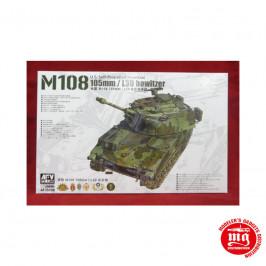 U.S. SELF PROPELLED HOWITZER M108 105mm / L30 HOWITZER AFV CLUB AF35108