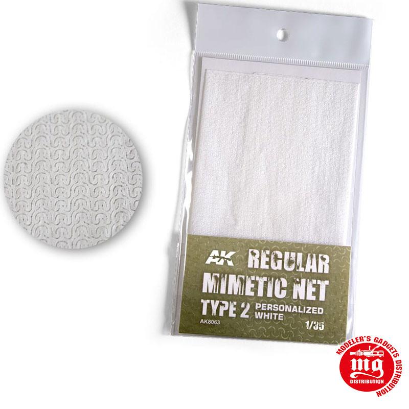 CAMOUFLAGE NET PERSONALIZED WHITE TYPE 2 AK8063