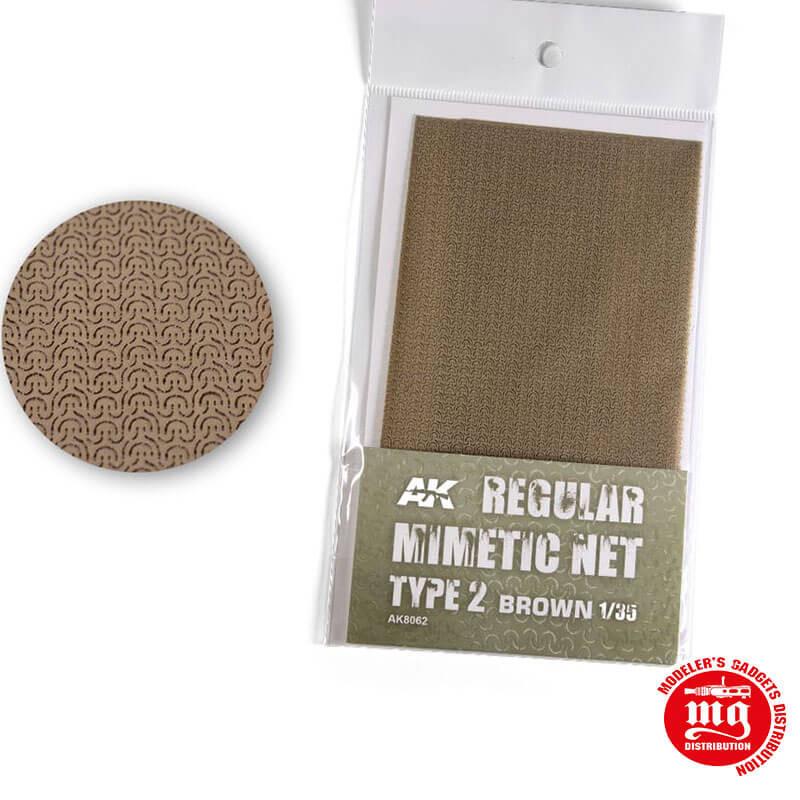 CAMOUFLAGE NET BROWN TYPE 2 AK8062