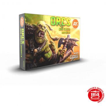 ORCS AND GREEN MODELS 3 GENERATION ACRYLICS AK11600