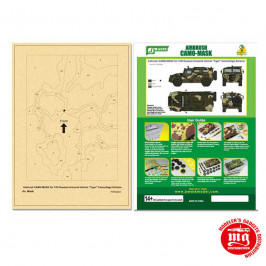 AIRBRUSH CAMO MASK FOR 1/35 RUSSIAN ARMORED VEHICLE TIGER CAMOUFLAGE SCHEME PPA5094