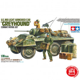 US M8 LIGHT ARMORED CAR GREYHOUND COMBAT PATROL SET TAMIYA 25196