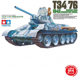 T34/76 RUSSIAN TANK 1942 PRODUCTION MODEL TAMIYA 35049