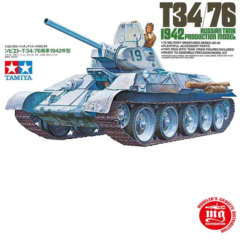 T34/76 RUSSIAN TANK 1942 PRODUCTION MODEL TAMIYA 35049 ESCALA 1:35