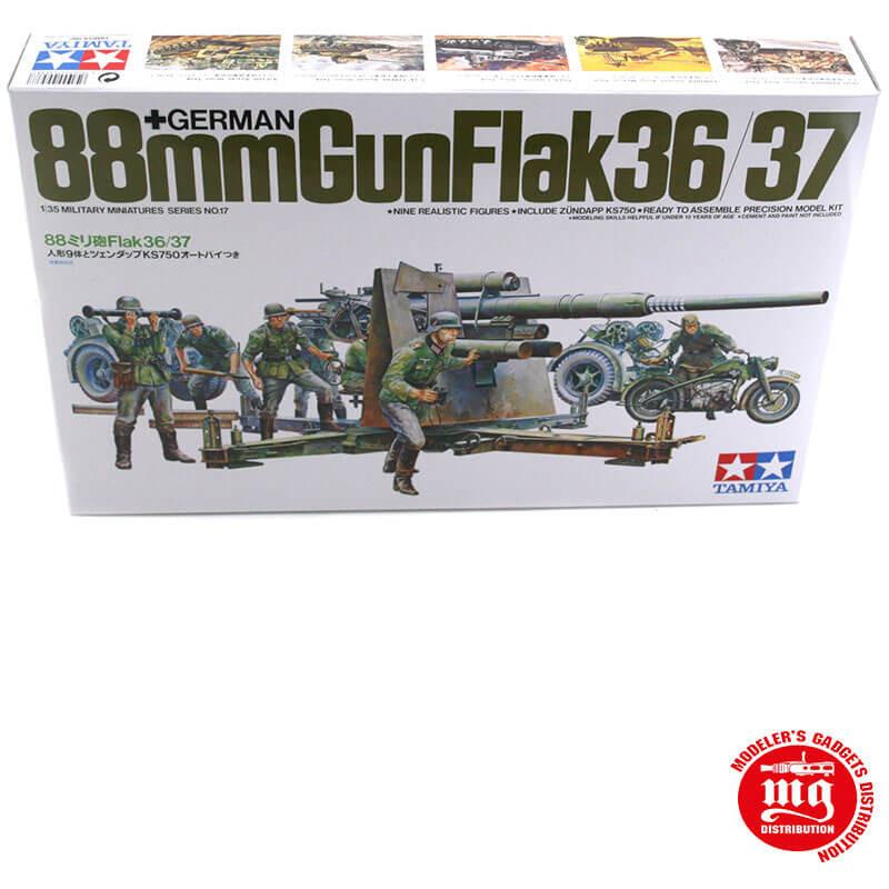 GERMAN 88mm GUN FLAK 36/37 TAMIYA 35017