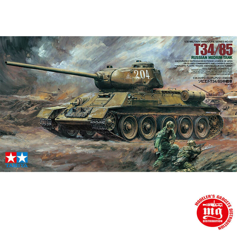 T34/85 RUSSIAN MEDIUM TANK TAMIYA 35138 ESCALA 1:35