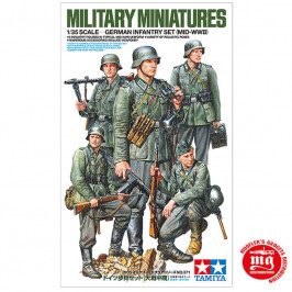 GERMAN INFANTRY SET MID-WWII TAMIYA 35371