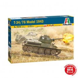 T34/76 MODEL 1943 ITALERI 7078