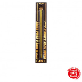 BRASS PIPES 2.8MM 2 UNITS AK9122