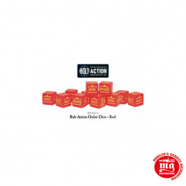 BOLT ACTION ORDERS DICE RED WGB DICE 15