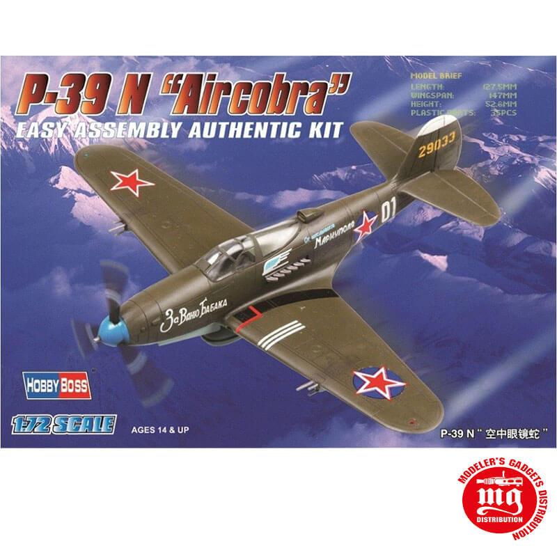 P-39 N AIRCOBRA EASY ASSEMBLY AUTHENTIC KIT HOBBYBOSS 80234