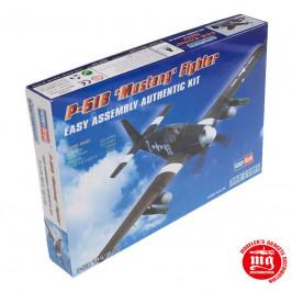P-51B MUSTANG FIGHTER EASY ASSEMBLY AUTHENTIC KIT HOBBYBOSS 80242