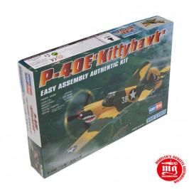 P-40E KITTYHAWK EASY ASSEMBLY AUTHENTIC KIT HOBBYBOSS 80250