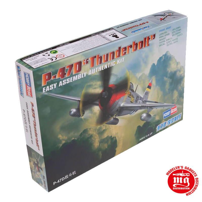 P-47D THUNDERBOLT EASY ASSEMBLY AUTHENTIC KIT HOBBYBOSS 80257
