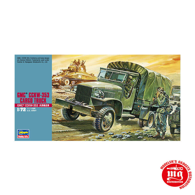 GMC CCKW 353 CARGO TRUCK US ARMY HASEGAWA 31120 ESCALA 1/72