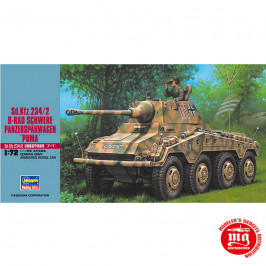 Sd Kfz 234/2 8 RAD SCHWERE PANZERSPAHWAGEN PUMA GERMAN ARMY ARMOURED PATROL CAR HASEGAWA 31152
